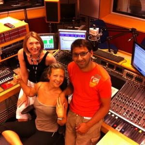 Southampton Personal Trainer Gen Levrant with BBC Radio Solent Katie Martin
