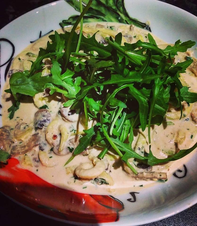New Recipe: Mushroom Carbonara (gluten free and vegan!)