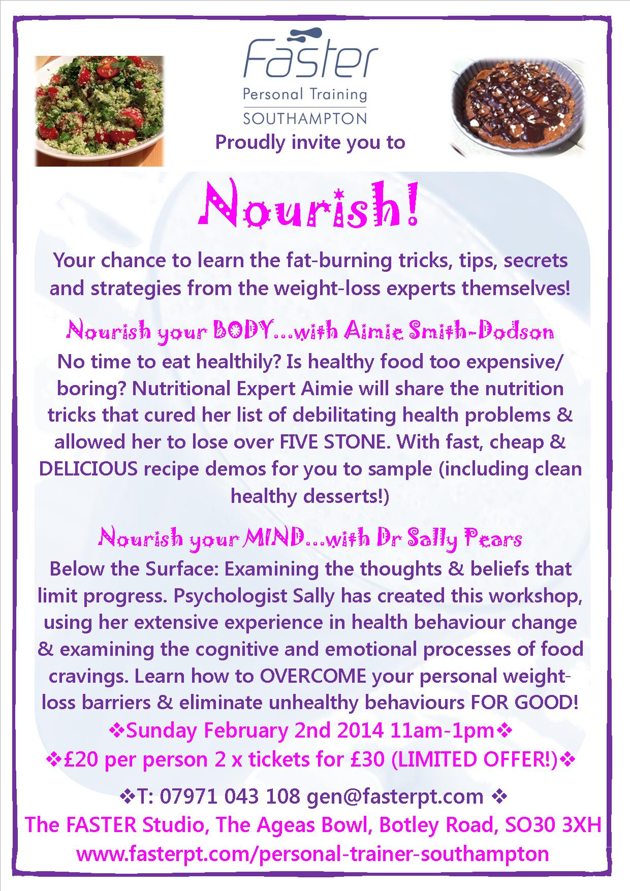 Nourish at Faster Personal Training Southampton