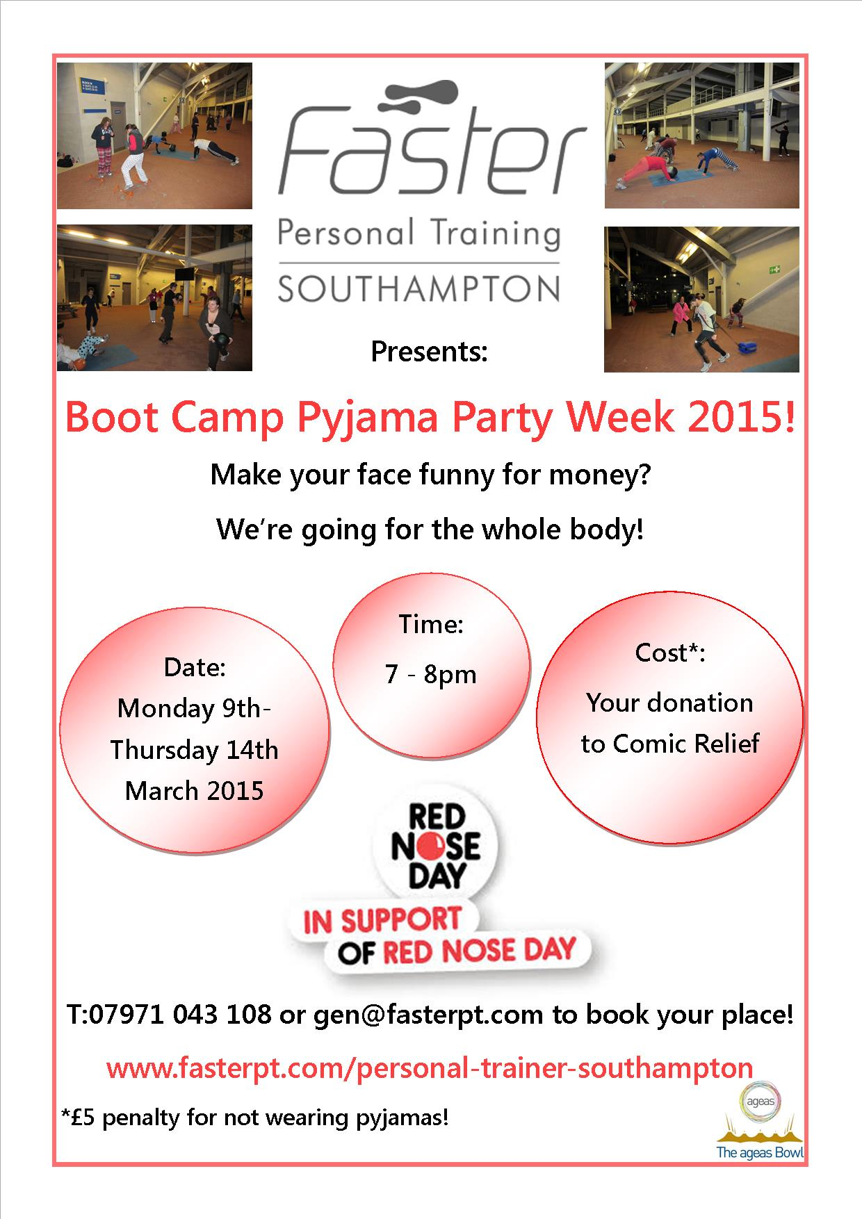 The Comic Relief Boot Camp Pyjama Party is Back!