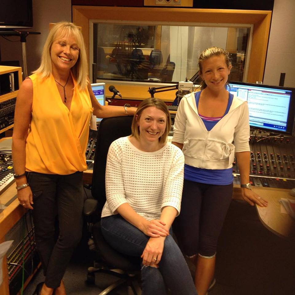 Southampton Personal Trainer Gen Preece with BBC Solent's Katie Martin and Wendy Lawrence