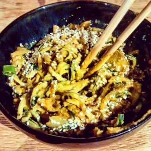 Singapore Noodle Stir-fry (gluten-free, grain-free, paleo, vegan) Southampton Personal Trainer Gen Preece Boot camp