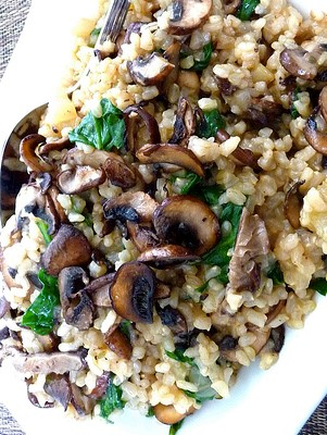New Recipe: Mushroom Pilau with Toasted Walnuts